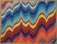 bargello needlepoint flames