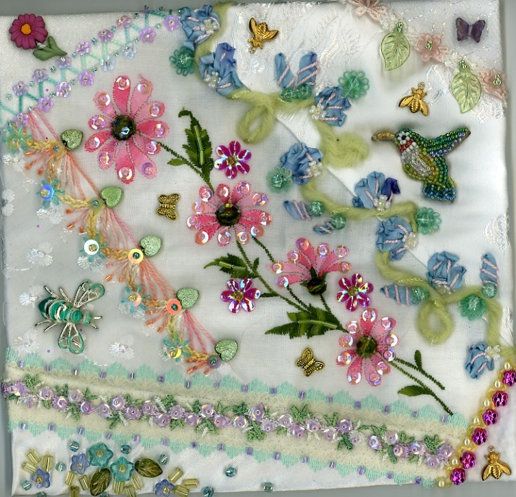 crazy quilt blocks by Pamela Kellogg