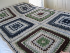 ���������/���� �� ���������� ���������� ��������� / Giant granny square bedspread (afghan)