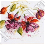 "Fuchsia in watercolour (Цветы фуксии в акварели).  Из серии:  ""Flowers & Gardens Collection  "" (Цветы и сад)."