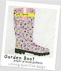 Garden Boot Paper Pieced Pattern