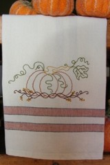 Pumpkin 'n Vines Tea Towel