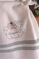 Fruits & Veggies Tea Towel - Pumpkin