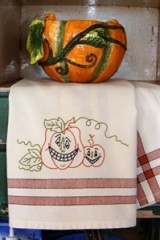 Pumpkin Pair Tea Towels