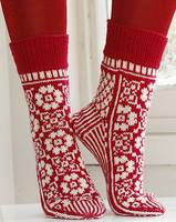 Носочки Christmas socks in Fabel от DROPS design