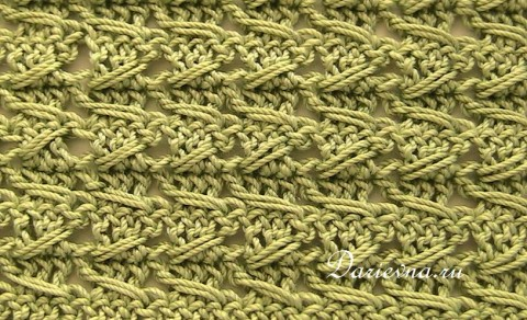 ��������� ���� ������� / samurai crochet relieve stitch